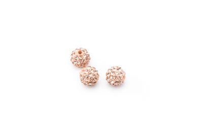 shamballa bead 8mm nude x10pcs