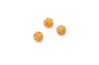 shamballa bead 8mm topaz x10pcs