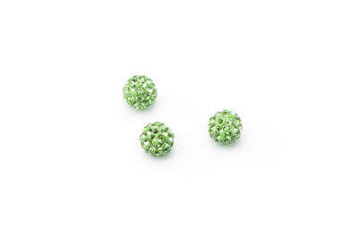 shamballa bead 8mm green x10pcs