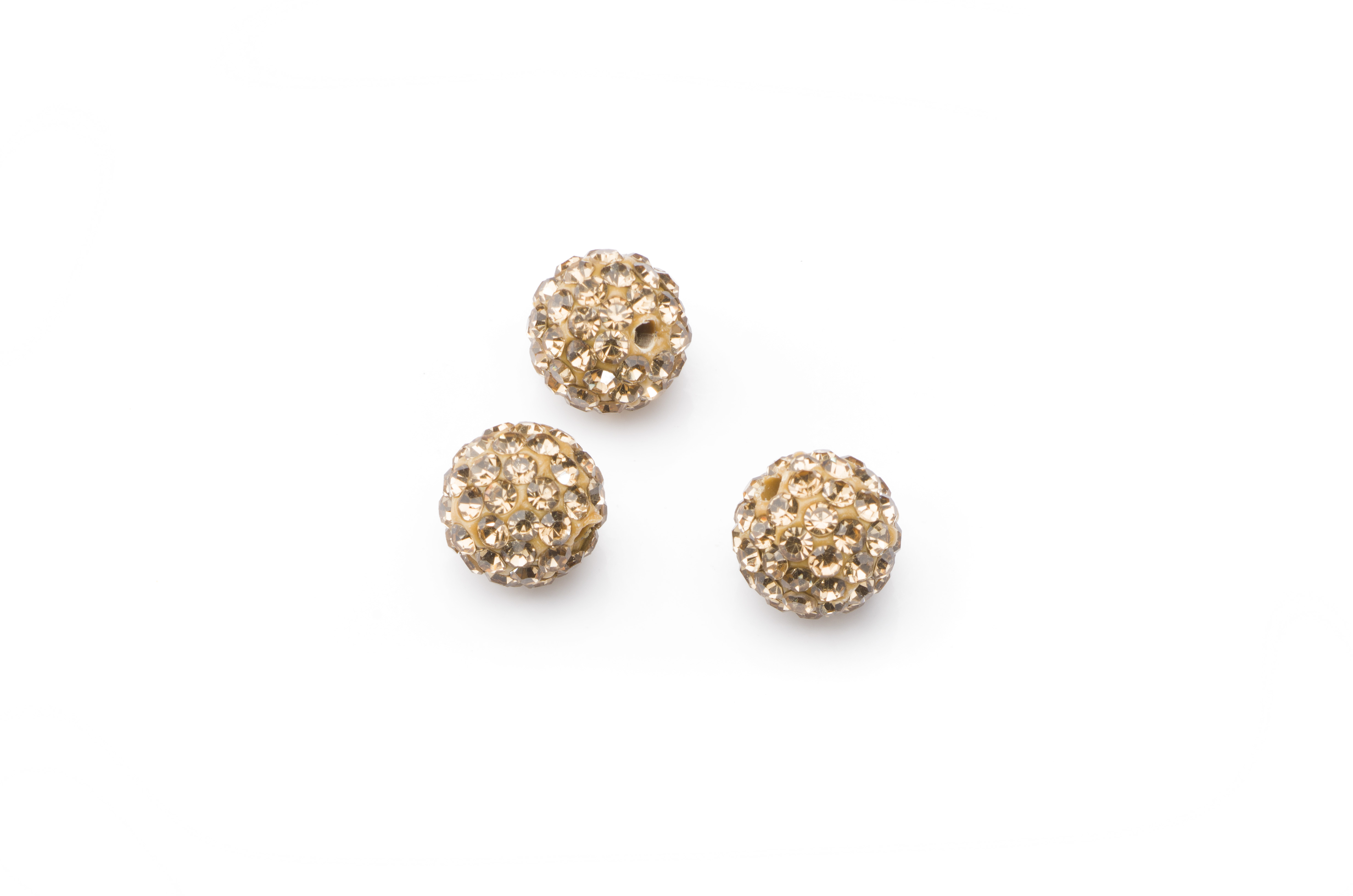 shamballa bead 10mm gold color x10pcs