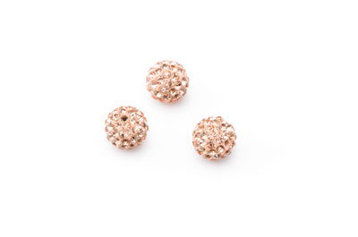 shamballa bead 10mm nude x10pcs