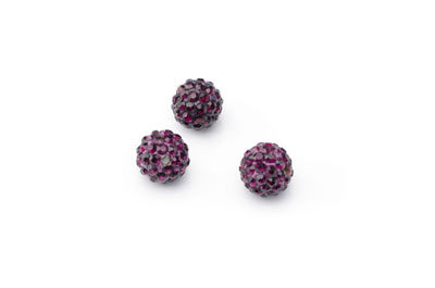 shamballa bead 10mm purple x10pcs