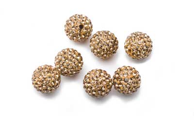 shamballa Perle 12mm golden x10pcs
