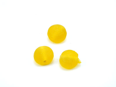 round flat 7x4mm yellow matt 150g