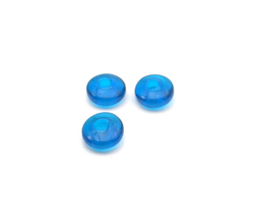 rondelle 7mm bleu teal brillant 150g