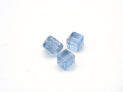 cube 5mm bleu gris brillant 150g