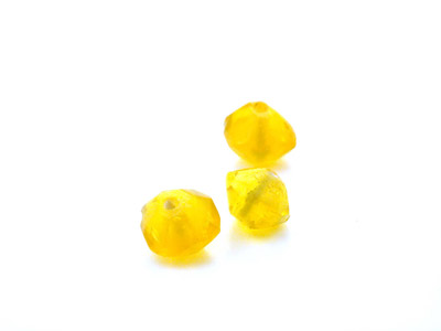 faceted bicone 10mm yellow shiny 150gr