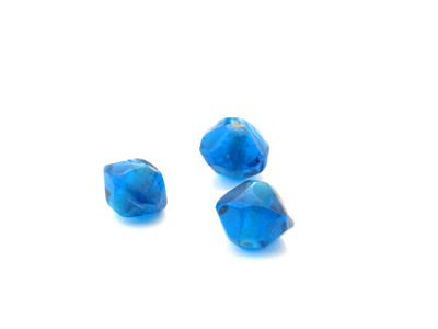 faceted bicone 10mm teal blue shiny 150g