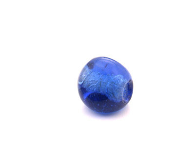 caillou triangle 15mm bleu marine brillant 300g
