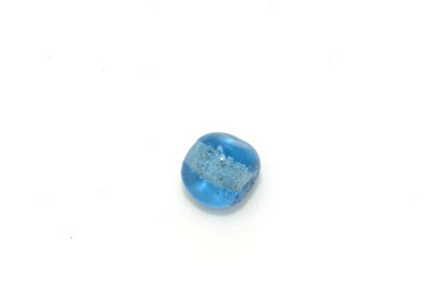 caillou triangle 15mm bleu gris brillant 300g